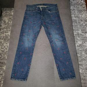 Polo Ralph Lauren  skull bones jeans